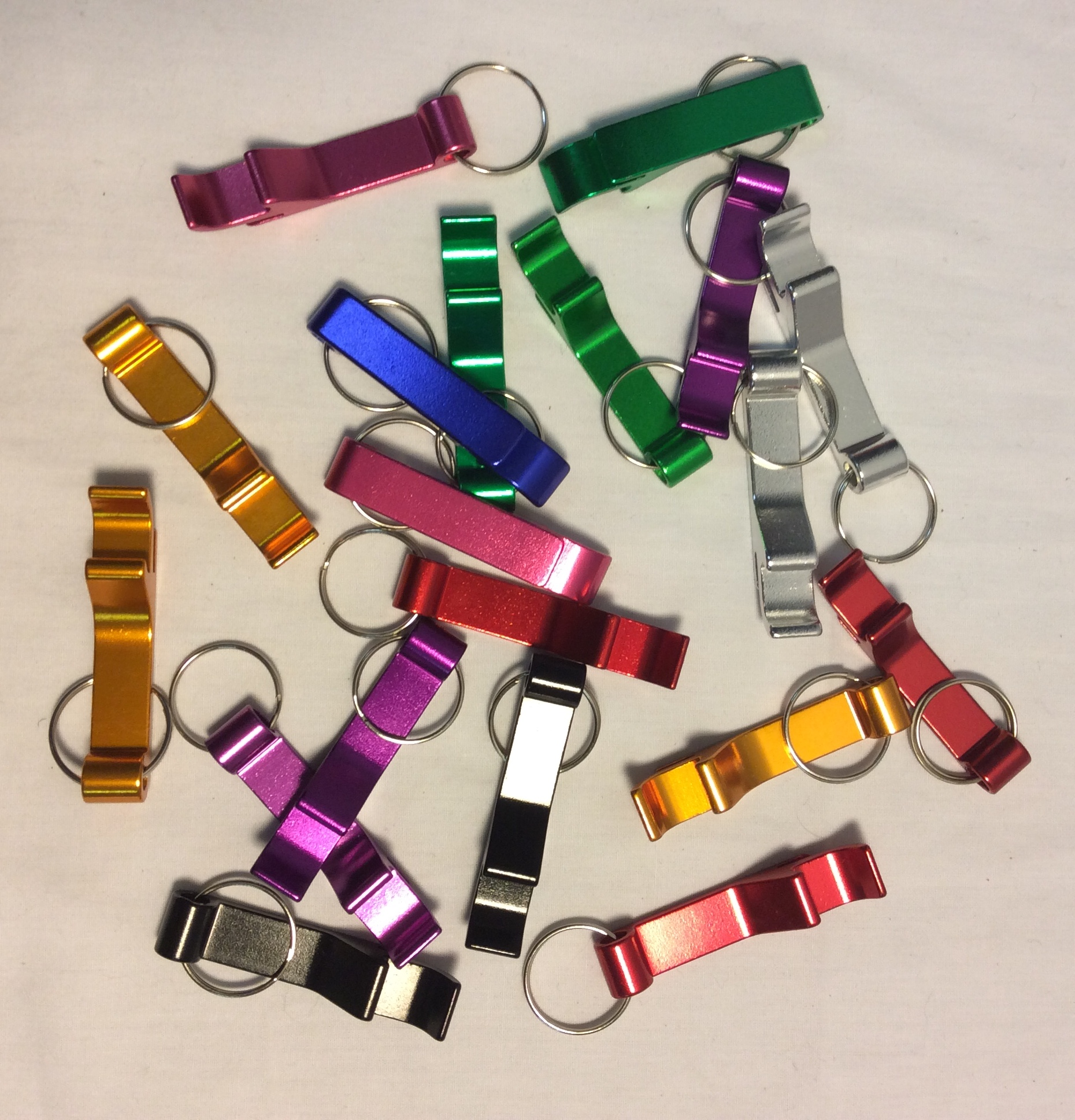 Metal bottle opener key rings