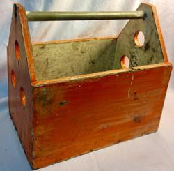 Wooden tool box - orange
