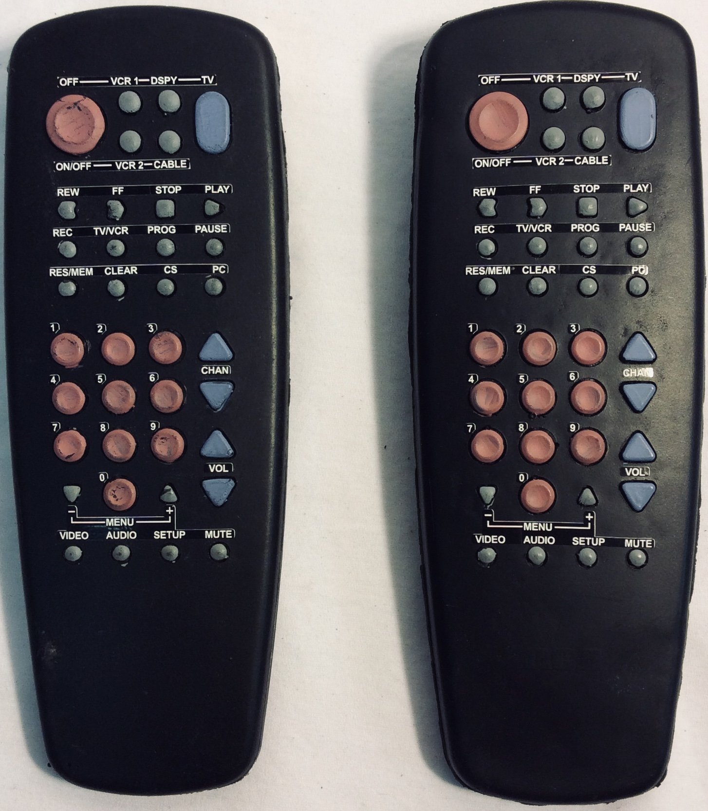 Universal remote control x2 rubber