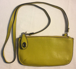 Lime green leather purse