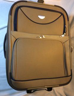 Beige Wheeled Suitcase