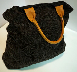 Black Decorative Tote Bag
