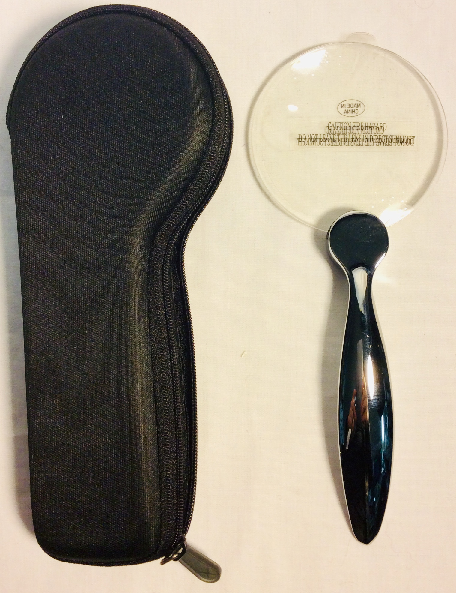 Magnifying glass with silver handle