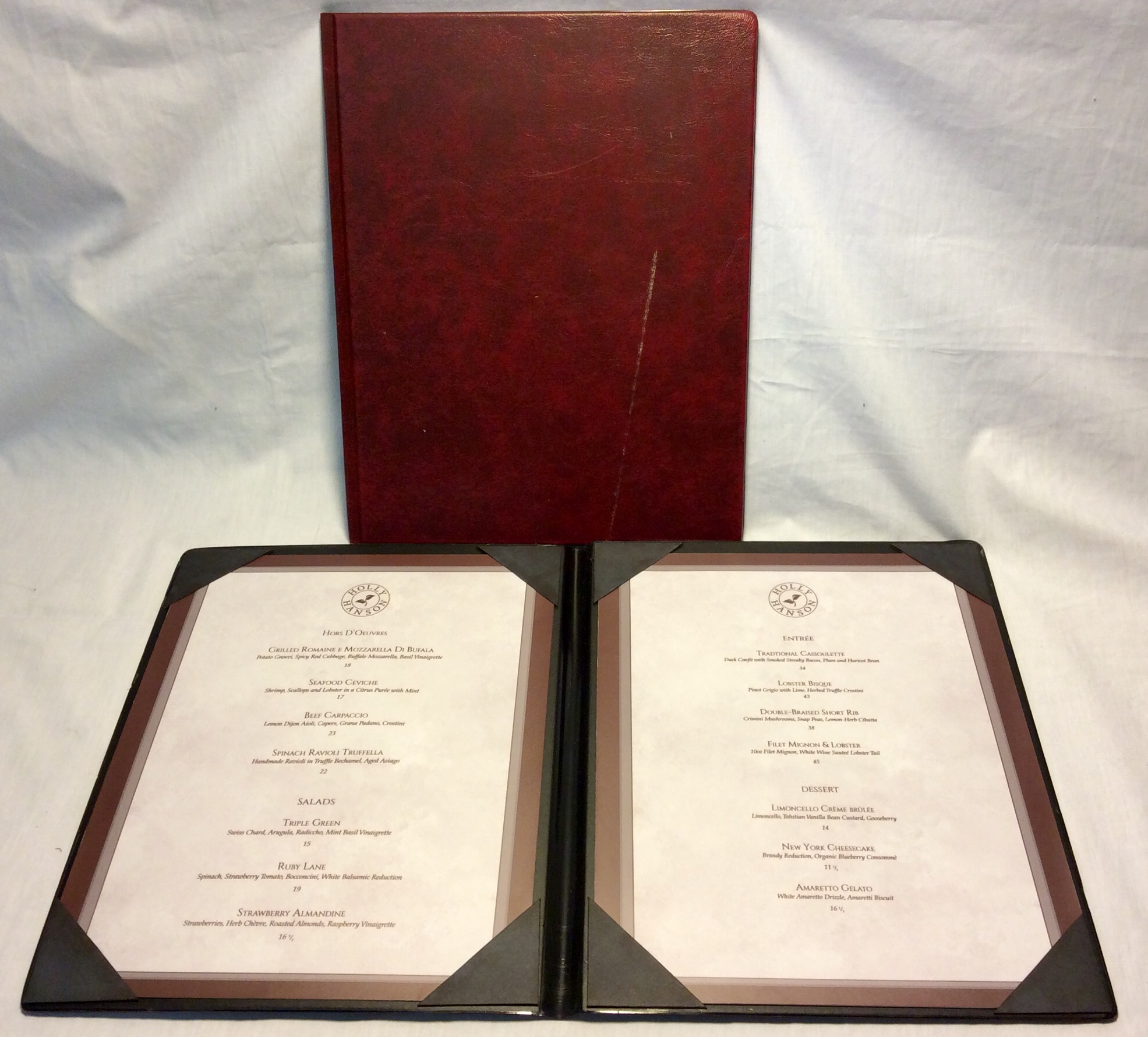 "Red Menus 9.2""x 11.5"""