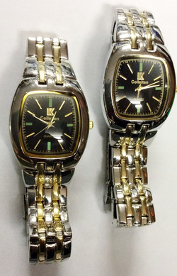 Gold and silver watches