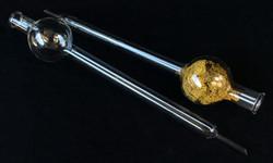 Volumetric-type labratory glass item.