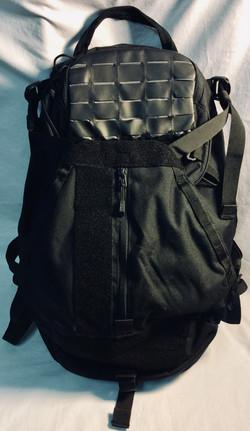Black nylon tatical backpack