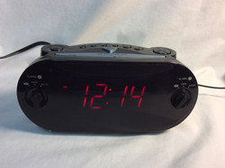 Rigged digital alarm clock