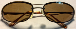 Brown lenses with aluminum frame