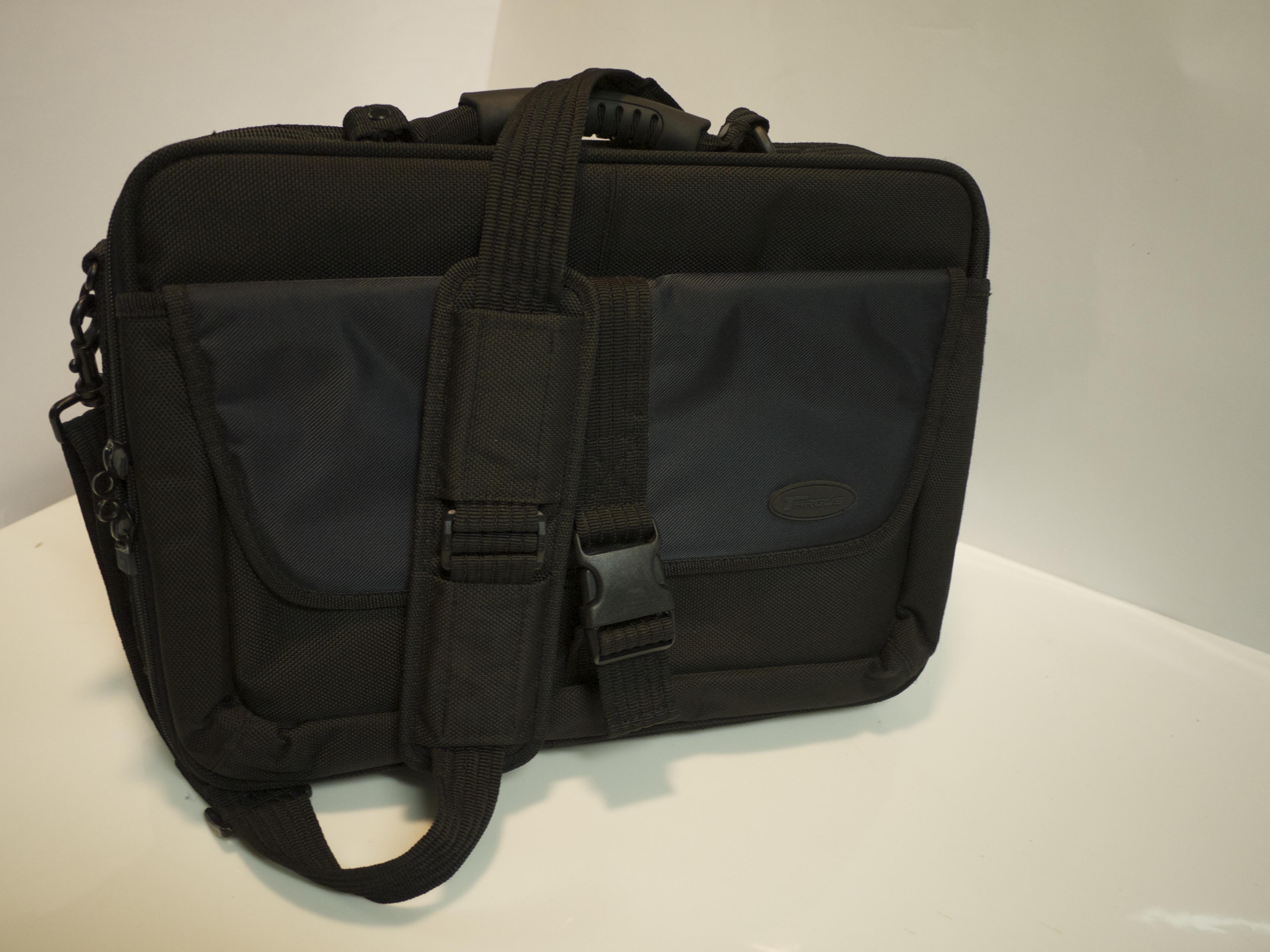 Black & navy color laptop bag