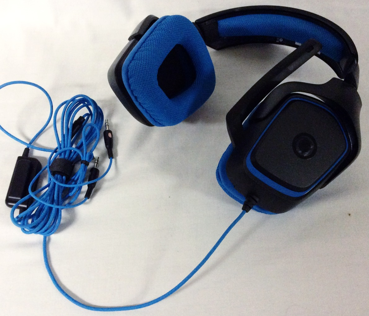 Blue and Black Gamer Headphones
