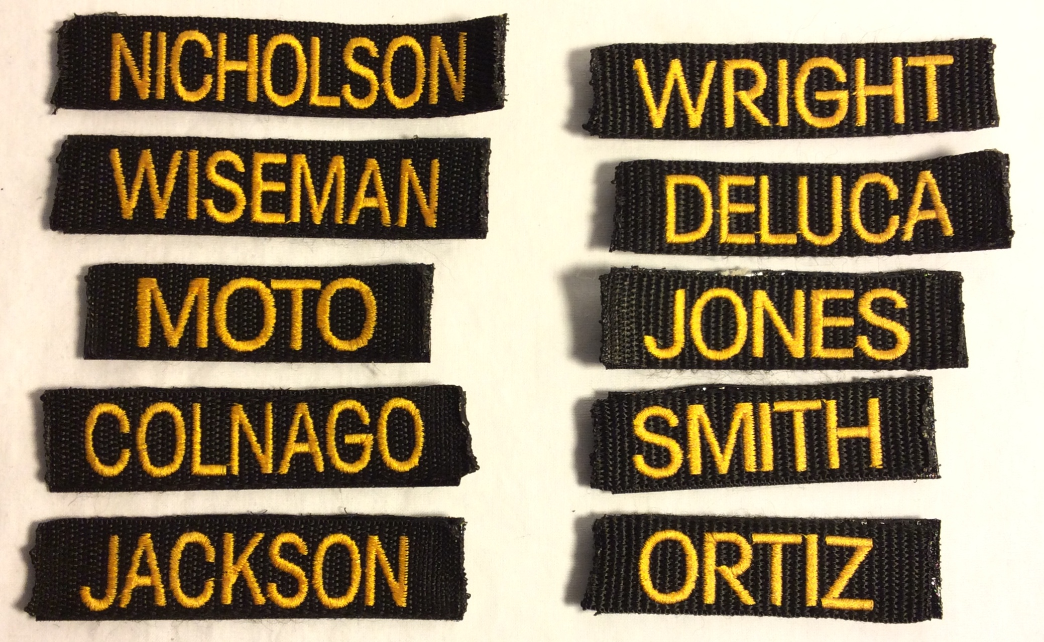 Last Name Velcro Patches