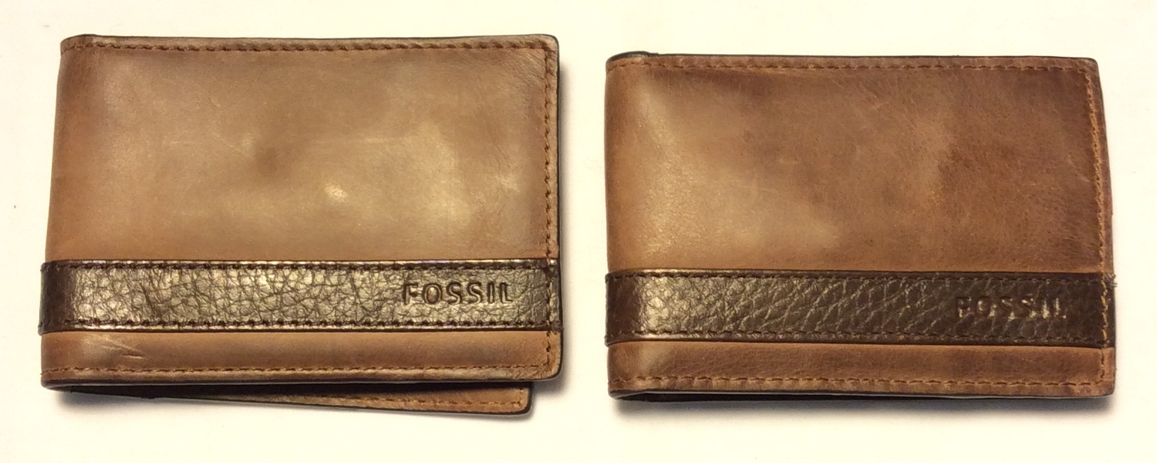 Fossil Brown leather bifold