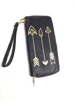 Gold and Black Wallet