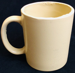 Pale yellow coffee mug
