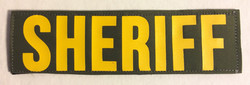 Sheriff Velcro Patches, yellow