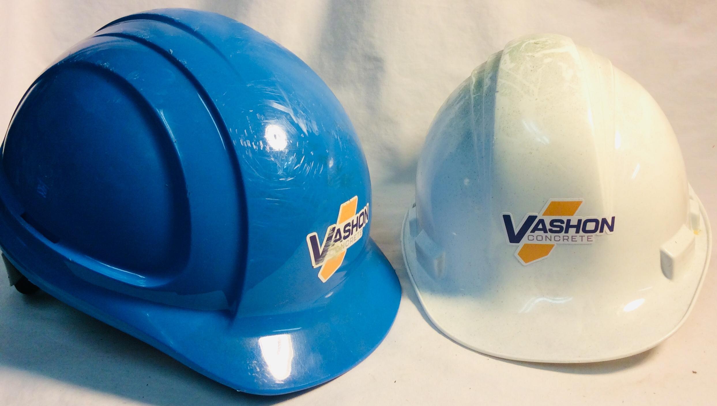 Hard hats x7 blue x10 white x7 yellow