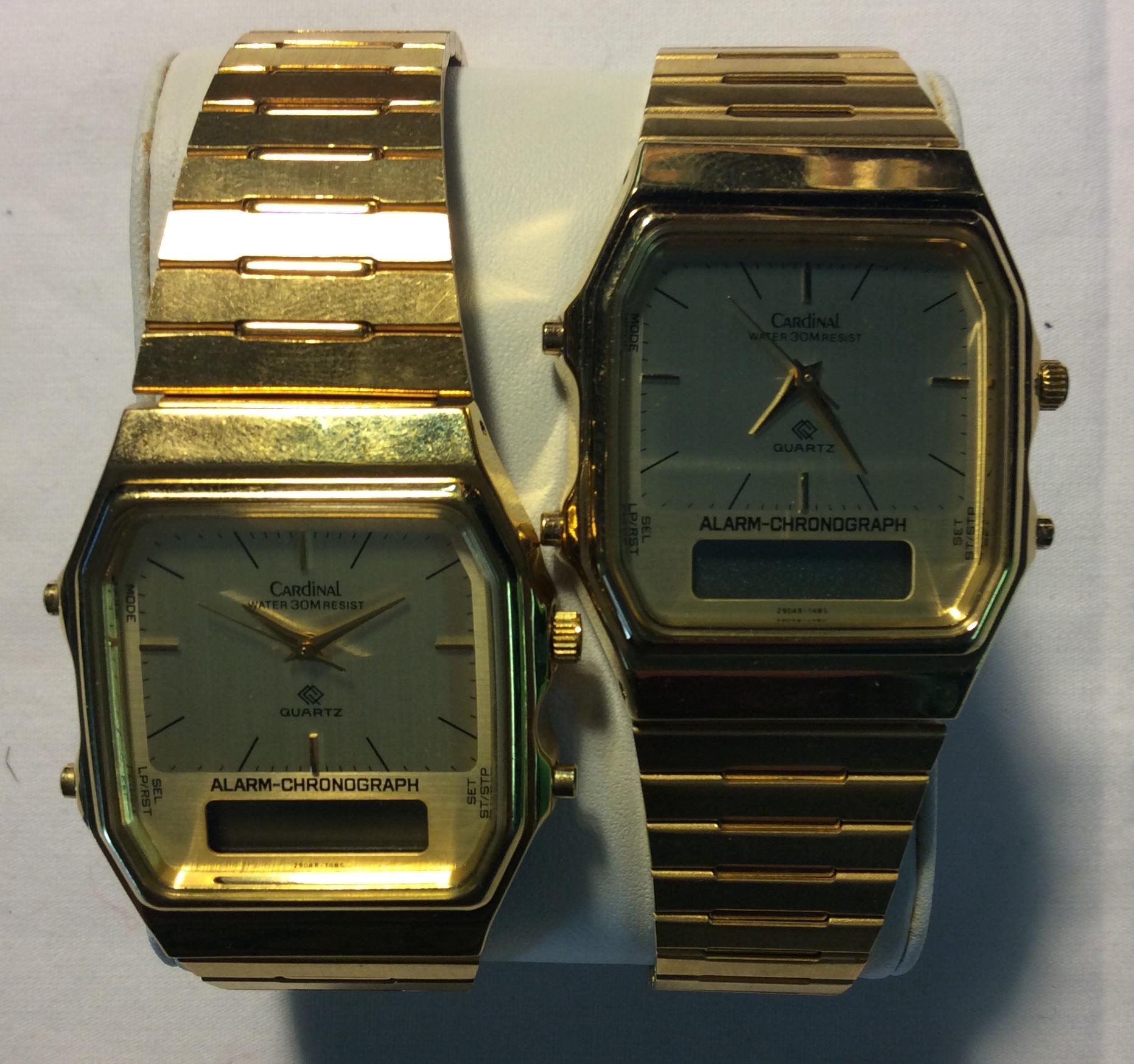 Cardinal watch - Hexagonal gold face