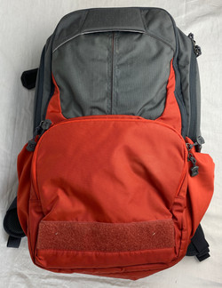 Grey and Red outdoorsy backpack
