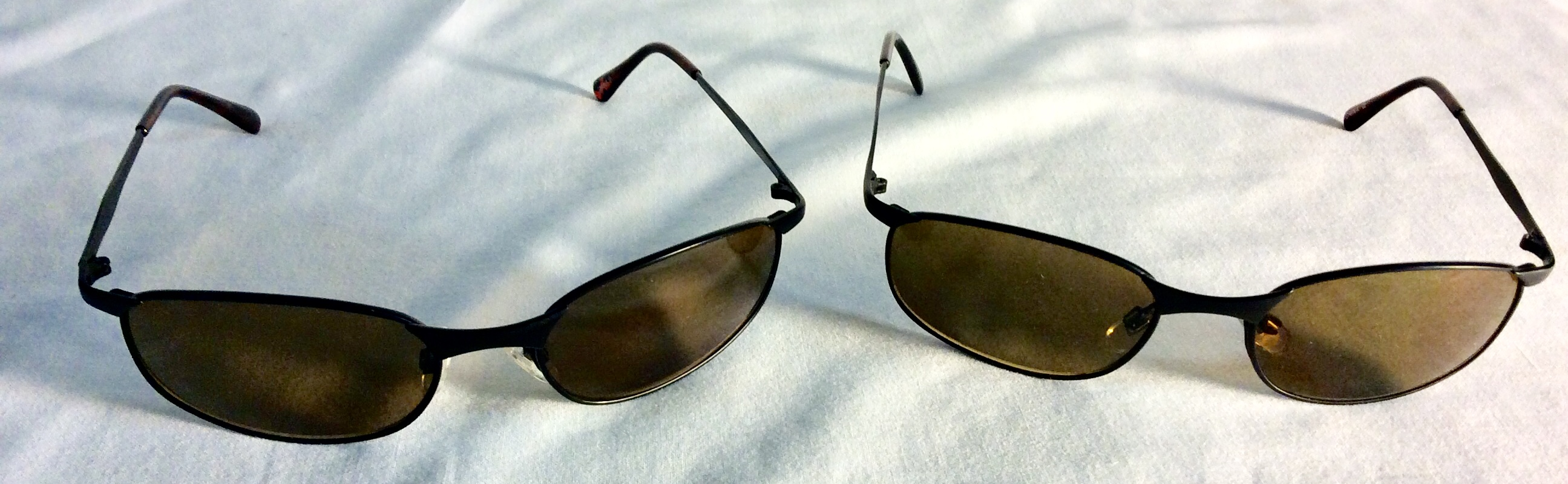 Black metal framed sunglasses