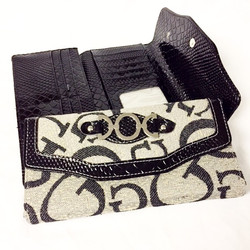 Fabric/Faux Leather Wallet