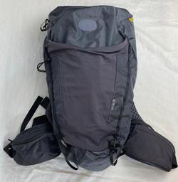 Medium weatherproof grey backpacking bag
