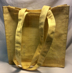 Yellow woven straw tote
