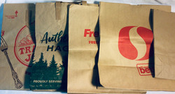 Assorted grocery brown paper bags