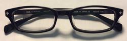 O&X Black plastic frames, silver