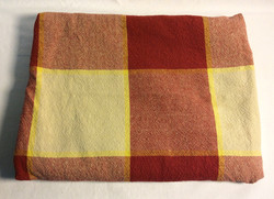 Red and Yellow checkered tablecloth