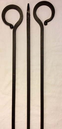 3ft fire pokers - 2 real and 4 rubber