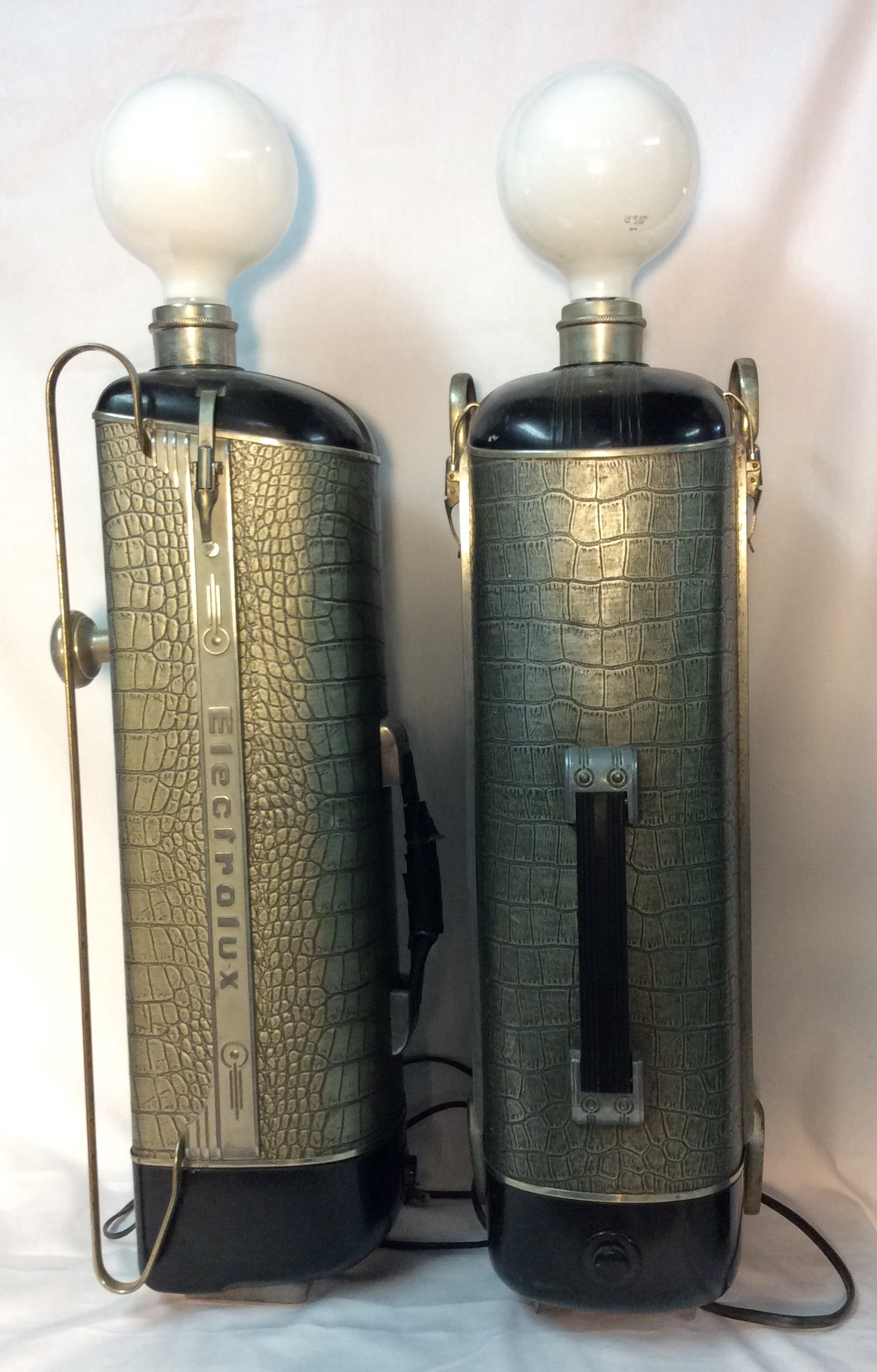 Vintage Electrolux vaccuum lamps
