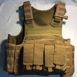 Military khaki color vests