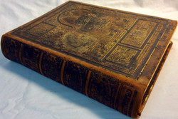Antique large religious book with hardcover