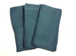 "Dark Teal cloth napkins 21""x22"" - x5"