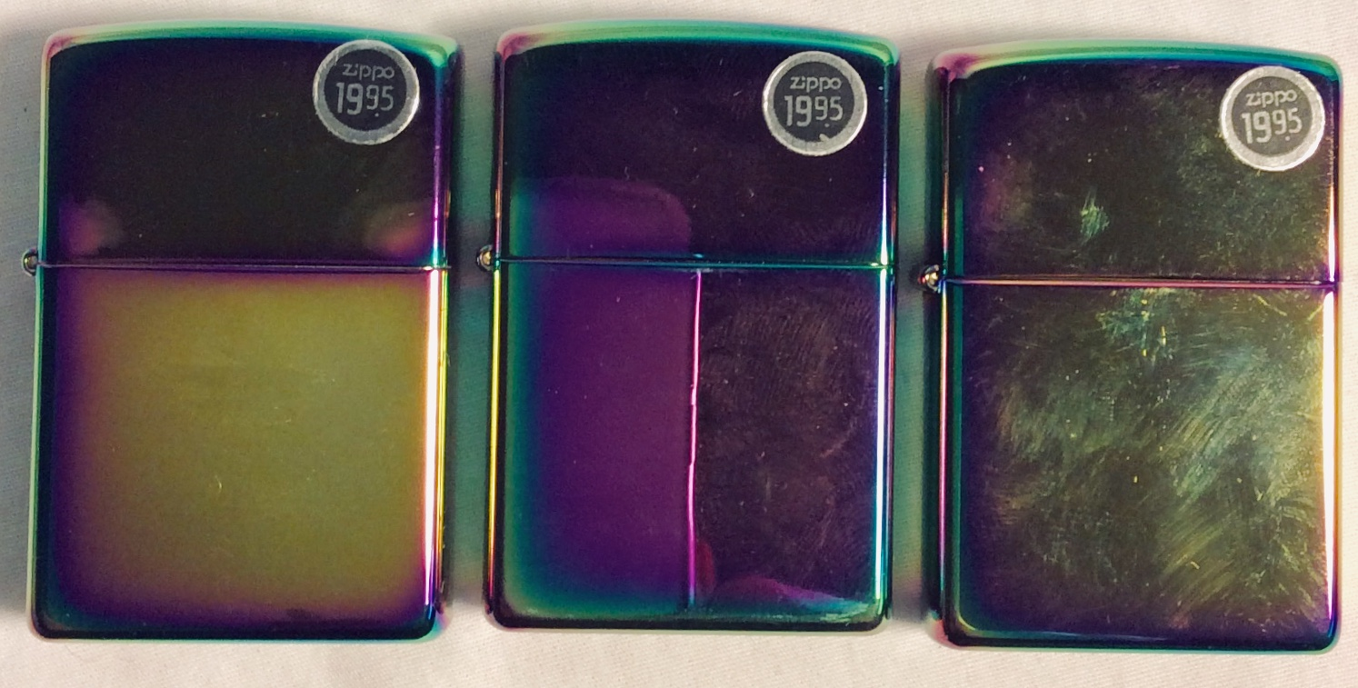 Mirror-polished zippo lighter