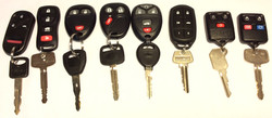 Assorted long range car keys