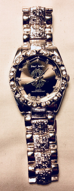 Diamond embellished watch