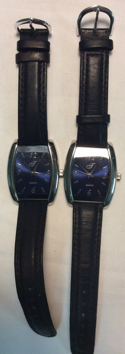 J watch - rounded square blue face