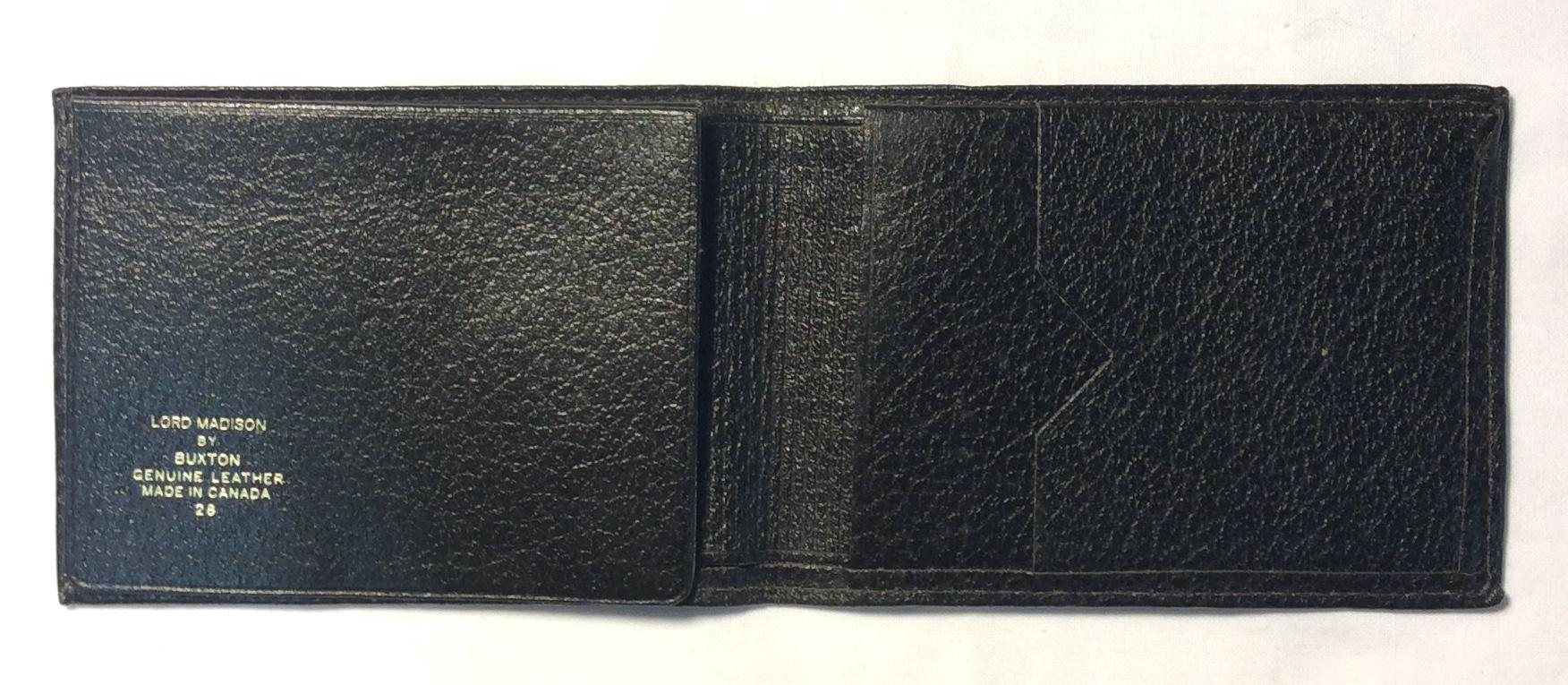 Buxton Worn charcoal leather
