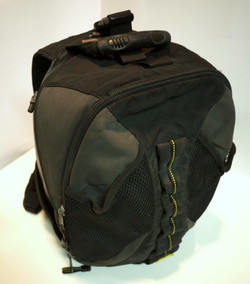 Black and grey backpack