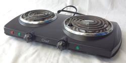 Master Chef black hot-plate portable grill.