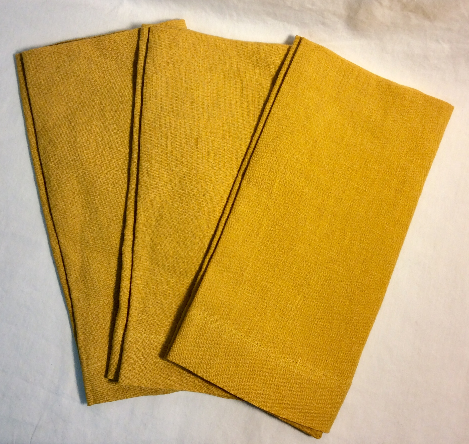 "Gold square linen napkins 22.5""x22.5"""