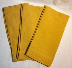"Gold square linen napkins 22.5""x22.5"""