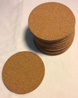 Round cork coasters - x80