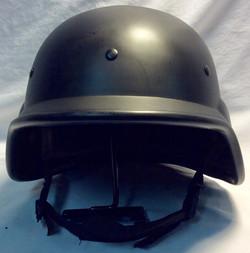Black riot gear helmets