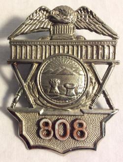 Washington police hat badges