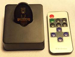 Black plastic casing necklace reader