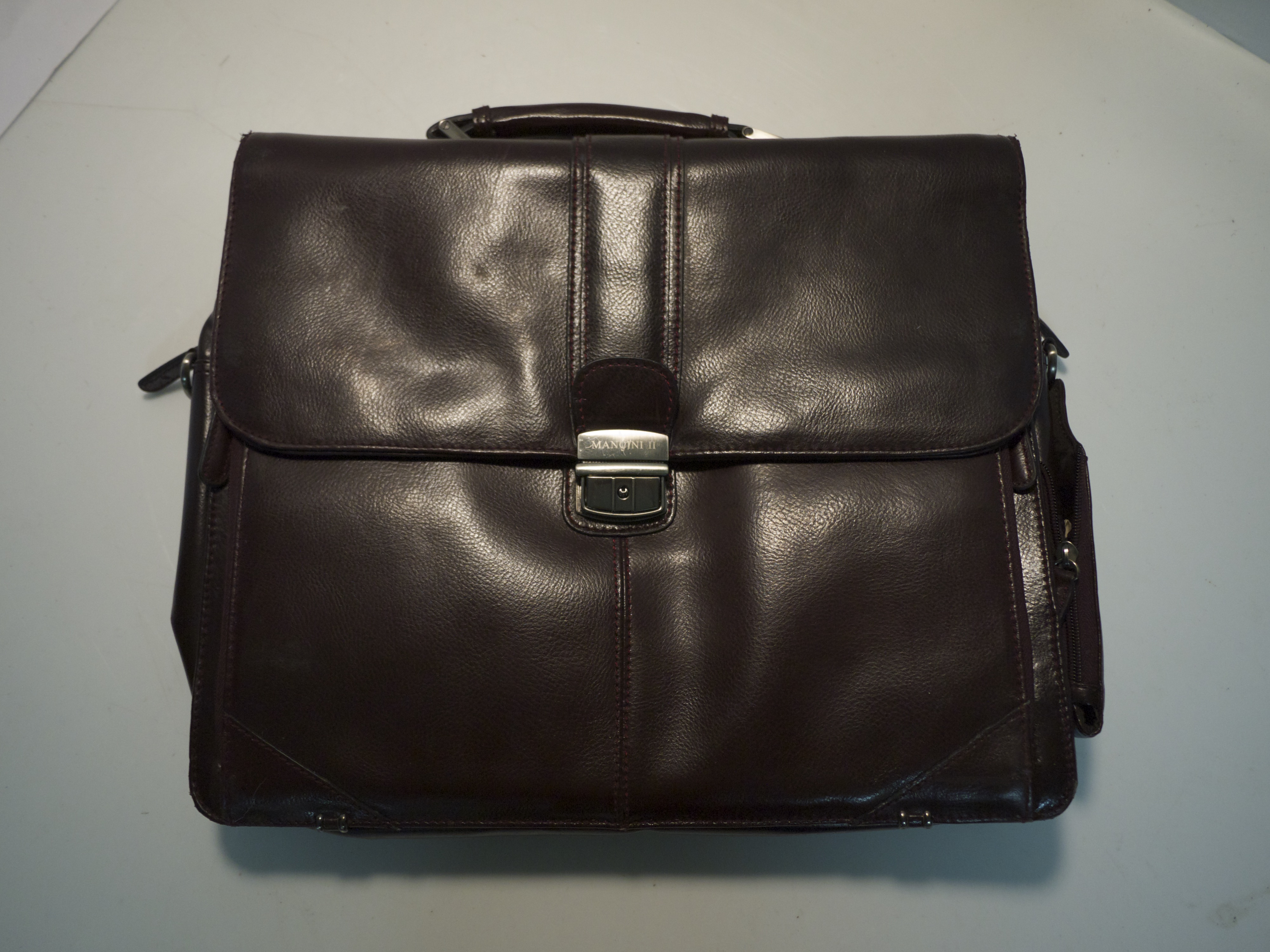 Leather laptop/brief