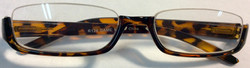 Reading glasses with half turtle frame